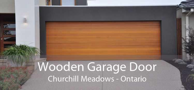 Wooden Garage Door Churchill Meadows - Ontario